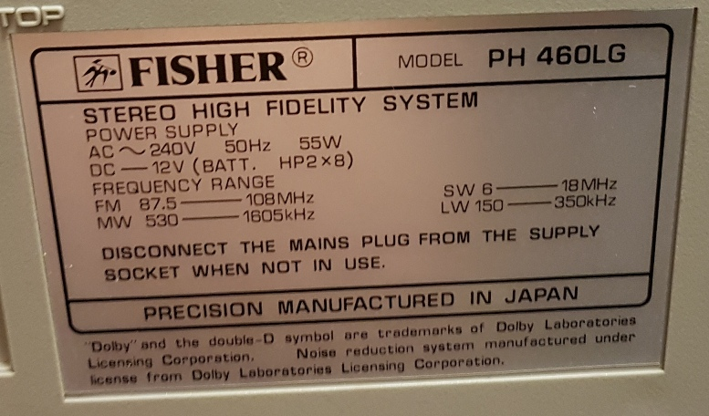 Fisher PH-460LG Compo System - May 2017 (25).jpg